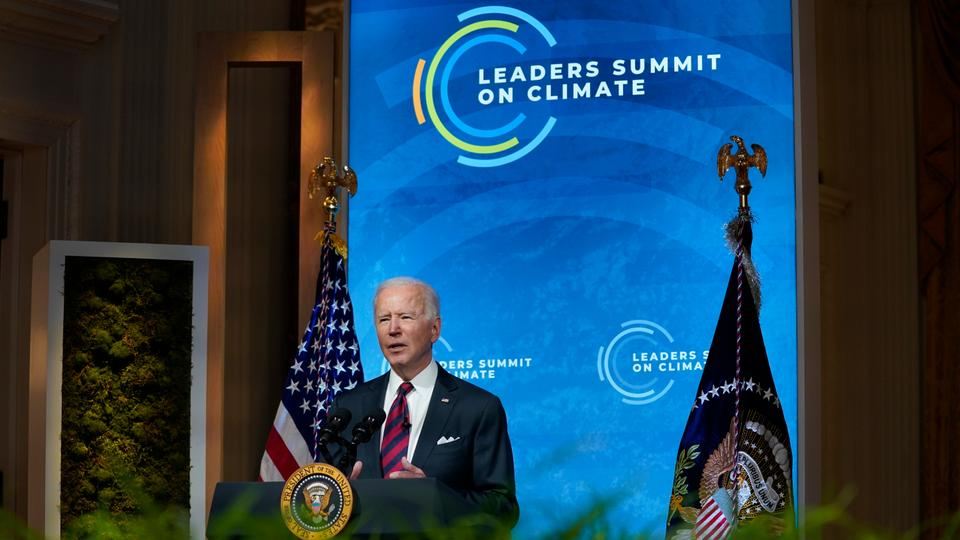 """Joe Biden urged nations to help """"overcome the existential crisis of our time"""""""