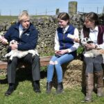 Prime Minister Boris Johnson today visited a farm in Stoney Middleton, Derbyshire. The PM insists this will be the country's last lockdown